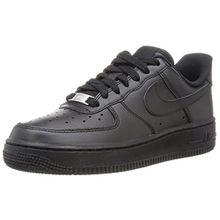 Nike Damen Air Force 1 '07 Sneakers, Schwarz (Black/Black), 42.5 EU