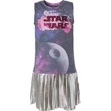 Star Wars Kinder Kleid mit Wendepailletten und Rockteil in Metallic-Optik mehrfarbig Mädchen Kleinkinder