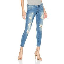 ONLY Damen Skinny Jeans Onlcoral Superlow SK an Dest BJ11123-1, Blau (Medium Blue Denim Medium Blue Denim), W30/L32