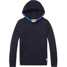 Scotch & Soda Shrunk Jungen Kapuzenpullover Hooded Pullover, Blau (Night Melange 419), 128