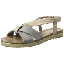 Jana Damen 28102 Offene Sandalen mit Keilabsatz, Beige (Sand 355), 39 EU