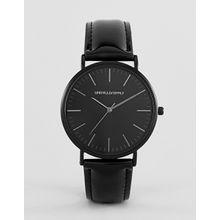 ASOS DESIGN – Schwarze Uhr mit Lackarmband