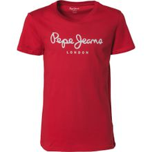 Pepe Jeans T-Shirt 'Art' hellgrau / rot