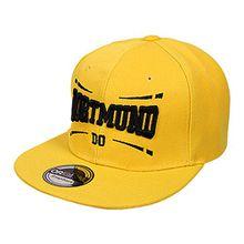 ANN FIXEN - Dortmund / Snapback Originals / Basecap / Hipster / Hip Hop Cap / Schirmmütze / Kappe / Baseballcap / Baseball / Fan Mütze für Damen, Herren und Kinder (DO01)