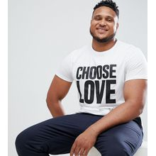 Help Refugees Choose Love Plus - Weißes T-Shirt aus Bio-Baumwolle - Weiß