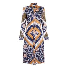 Mela London Blusenkleid »SCARF PRINT SHIRT DRESS«