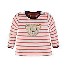 Steiff Collection Jungen Sweatshirt 1/1 Arm 6833673, Mehrfarbig (y/d Stripe 0001), 110