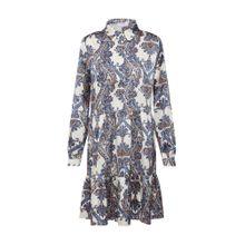 Love & Divine Kleid 'Love296-1' creme / blau