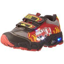 Lico Hot V Blinky, Jungen Sneakers, Mehrfarbig (Rot/Schwarz/Gelb), 31 EU