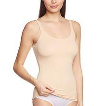 Calida Damen Unterhemd Top ohne Arm Sensitive, Einfarbig, Gr. 42 (Herstellergröße: S 40/42), Beige (teint 895)