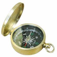 Kleiner Britischer Klappdeckel Kompass mit Deckel aus poliertem Messing