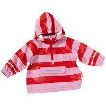 Playshoes Regen-Poncho Streifen 408637 Unisex - Kinder, Gr. 116, Mehrfarbig (rot/rose 788)