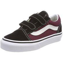 Vans Unisex-Kinder Old Skool V Sneaker, Schwarz (Pop), 33 EU