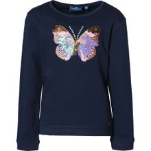 TOM TAILOR Sweatshirt 'Schmetterling' blau / mischfarben