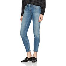 SELECTED FEMME Damen Skinny Sfida MW Cropped Jeans Water Noos, Blau (Medium Blue Denim), W31