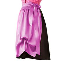 Dirndlschürze pink Midi 69 cm Seidensatin Trachtenmode für Damen