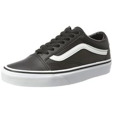 Vans Unisex-Erwachsene Old Skool Leather Sneaker, Schwarz (Classic Tumble/Black/True White), 44 EU