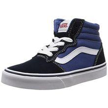 Vans Y Milton Hi, Unisex-Kinder Sneakers, Blau (Suede Canvas/Navy/stv Navy), 28 EU