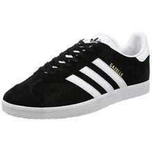 adidas Unisex-Erwachsene Gazelle Sneakers -Schwarz (Cblack/White/Goldmt) -42 2/3 EU (8.5 UK)