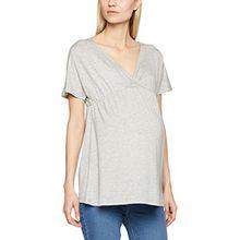 MAMALICIOUS Damen Umstands-T-Shirt Mltrille S/S Jersey Top A, Grau (Light Grey Melange), 38 (Herstellergröße: M)