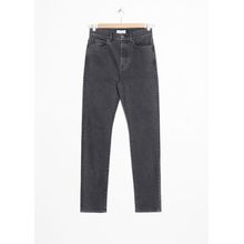 High Rise Slim Jeans - Black