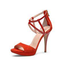 EVITA Damen Sandalette VALERIA Klassische Sandaletten rot Damen