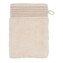 Möve Wellness Waschhandschuh Uni mit Chenillebiesen 15 x 20 cm aus 100% Baumwolle (Spinair), nature