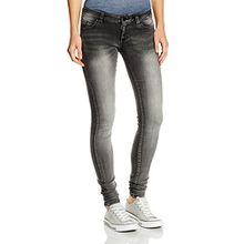 VERO MODA Damen Skinny Hose Vmfive Lw S. Slim Vi Jeans Gu968, Gr. W31/L32 (Herstellergröße: 31), Grau (Light Grey Denim)
