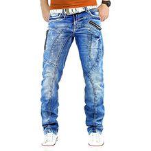 Cipo & Baxx Herren Jeans Denim Mens Pants Hose Freizeithose Clubwear Bestseller, Blau, 33W / 34L