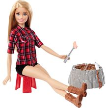 Barbie Lagerfeuer Set Puppe (blond)