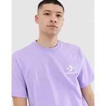 Converse - T-Shirt mit kleinem Logo in Lila - Violett