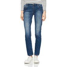Street One Damen Slim Jeans 371152 Jane, Blau (Mid Blue Stone Wash 11252), W26/L30