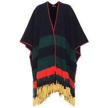 Gestreifter Poncho aus Wolle