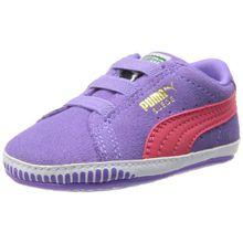 Puma Suede Crib 355965 Unisex-Kinder Sneaker, Violett (dahlia purple-paradise pink 03), EU 18 (UK 2) (US 3)