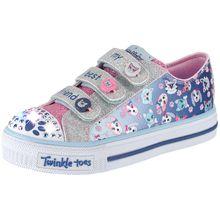 SKECHERS Kinder Schuhe Twinkle Toes Blinkies blau Mädchen