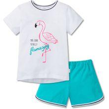 Schiesser zweiteiliger Schlafanzug - Flamingo