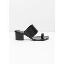 Toe Slide Sandal - Black