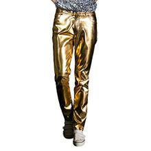 Choose Men's Glänzende Metallic Jeans(Bestellen Sie eine Nummer größer)