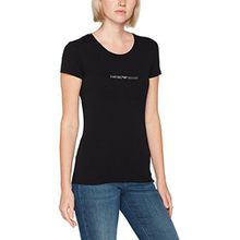 Emporio Armani Damen T-Shirt 163320CC317, Schwarz (Nero 00020), Medium