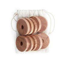 Iris Hantverk Cedar Wood Rings - Beige