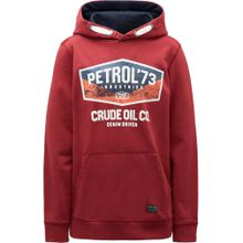 Petrol Industries Sweater dunkelblau / koralle / rot / weiß