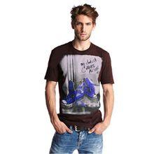 lässige Converse All Star T-Shirt mit Chucks Herren Jungen Mädchen in Schwarz Gr. XS-S (S, Bordo)