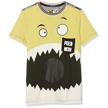 Desigual Jungen T-Shirts TS_Angel, Gelb (Yellow Cream 8058), 104 (Herstellergröße:3/4)