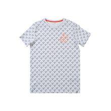 NAME IT T-Shirt nachtblau / orange / weiß