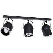 Elegante Deckenleuchte in Schwarz Vintagestil Industrie Design 3x E27 bis zu 60 Watt 230V aus Metall & schwenkbar Küche Esszimmer Lampen Leuchte Beleuchtung