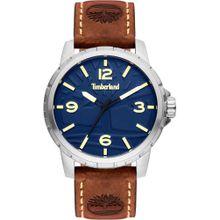 TIMBERLAND Uhr 'Clarkson TBL15257JS.03' dunkelblau / braun / gold / silber
