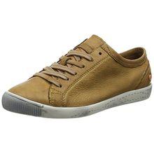 Softinos Damen Isla Washed Sneaker, Braun (Brown-553), 39 EU