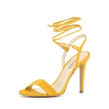 EVITA Damen Sandalette EVA Klassische Sandaletten gelb Damen