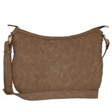 Silvio Tossi Lederschultertasche mit ansprechendem Muster Handtaschen braun Damen