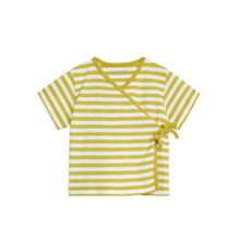 Short-Sleeve Wrap Top - Yellow